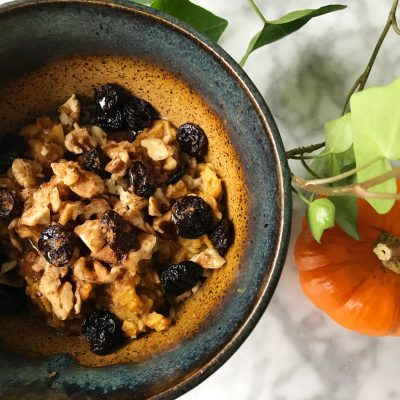 15 Minute Pumpkin Oatmeal